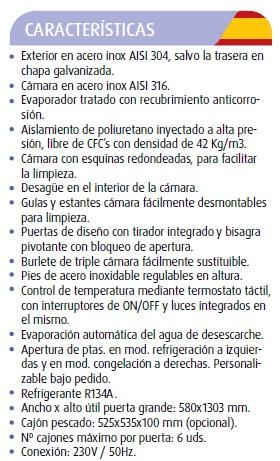 ARMARIO EXP PESC REFRIG.DESC