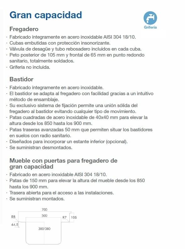 FREGADERO GRAN CAPACIDAD DESC